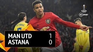 Manchester United vs Astana (1-0) | UEFA Europa League Highlights