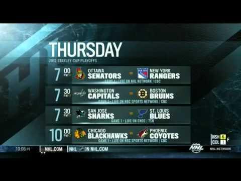 2012 NHL Playoff Schedule