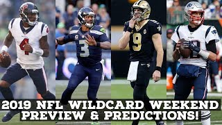 2019 NFL Playoffs Preview & Predictions: WILDCARD WEEKEND!
