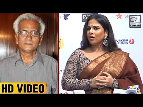 Vidya Balan's SHOCKING Reaction On Director Kundan Shah's Demise | LehrenTV