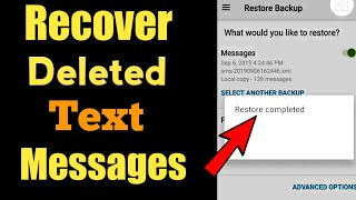 How to Recover deleted text messages || restore deleted messages