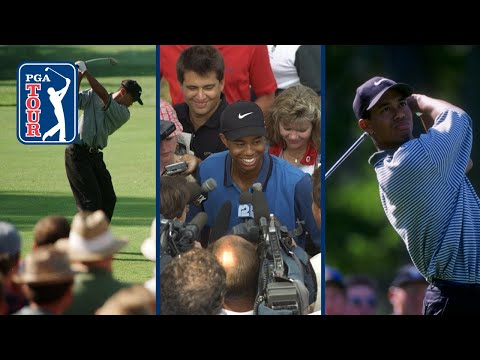 Tiger Woods' professional debut in 1996 | Full highlights
