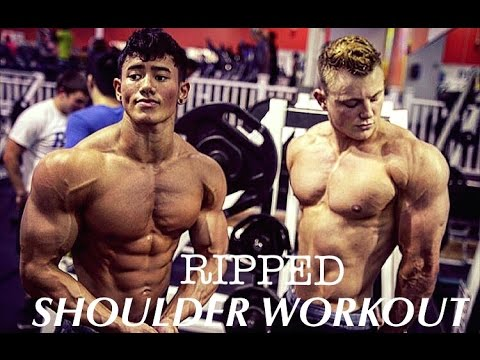 Steven Cao Road to Pro: 2 Weeks Out Nationals Day in the Life Ripped Shoulder Workout