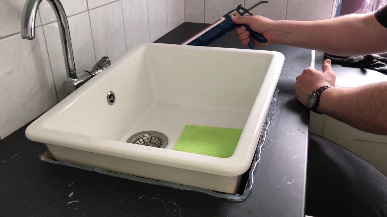 Outdoorküche Mit Spüle Anleitung : Einbau spüle mit silikon abdichten becken in transparentes silikon