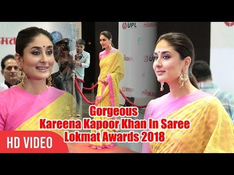 Gorgeous Kareena Kapoor Khan In Saree  Lokmat Maharashtrian of The Year Awards 2018
