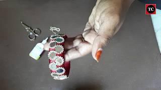 அழகான சில்க் நூல் வளையல் செய்வது எப்படி?   How to make silk thread bangles