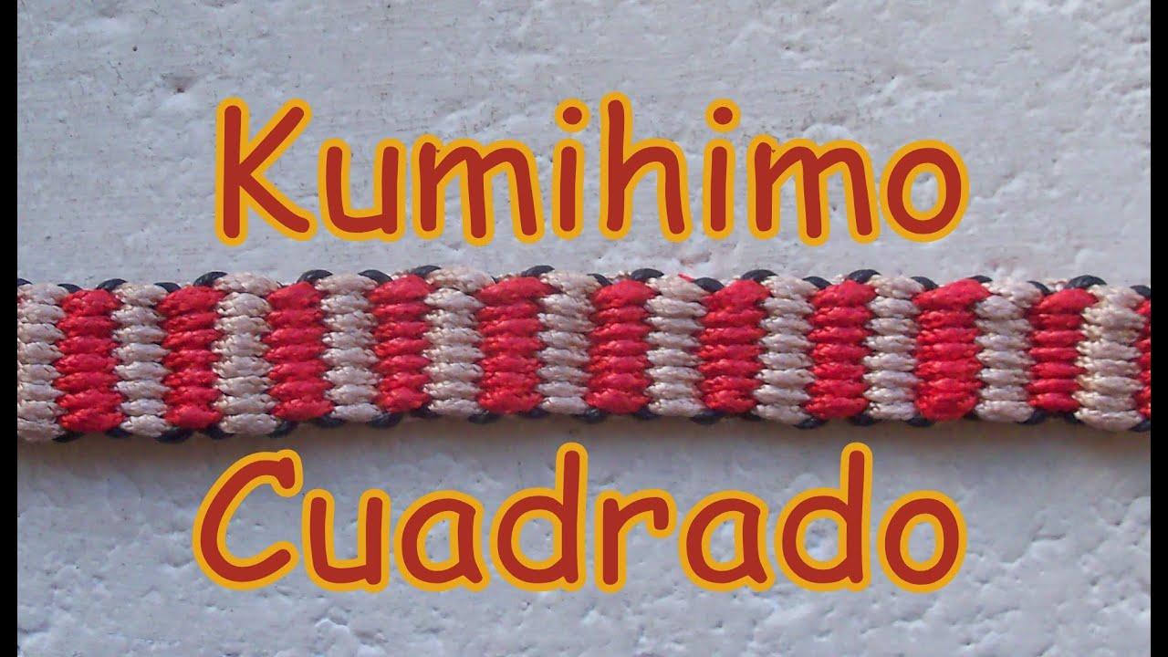 Pulsera de Hilo: Kumihimo Cuadrado es.PandaHall.com - YouTube