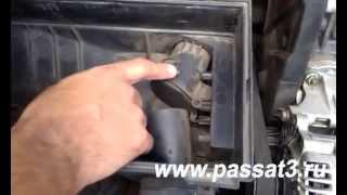 Моно впрыск терморегулятор входящего воздуха заслонка гор/хол Фольксваген Пассат В3 видео