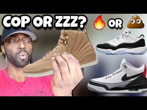 Cop Or Zzz? Jordan 12 Vachetta Tan, Jordan 3 Tinker Hatfield,  Jordan 11 Low Iridescent & More
