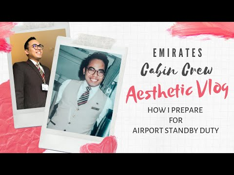 ✈︎ HOW I PREPARE FOR AIRPORT STANDBY DUTY    EMIRATES CABIN CREW    AESTHETIC VLOG