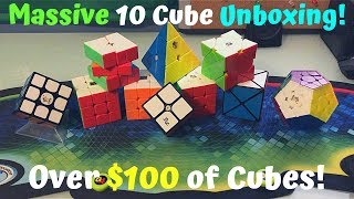 Massive 10 Cube Unboxing! - Over $100! Video