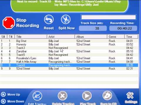 Audio Recorder for Music and MP3s : Tag/Edit/Name MP3s using Replay Music