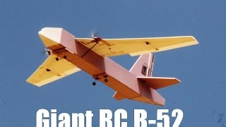 Giant Foam RC B-52 Maiden Flight At SCCMAS
