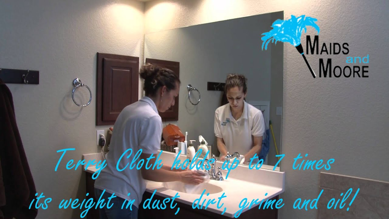 How To Clean Bathroom Mirror By Maids And Moore YouTube - How to clean bathroom mirror
