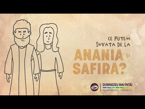 "12 iunie 2021 - ""Cand Anania si Safira au refuzat sa-L puna pe Dumnezeu mai intai"""