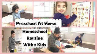 Homeschool Routine | PRESCHOOL | 3 Year Old + 1 Year Old