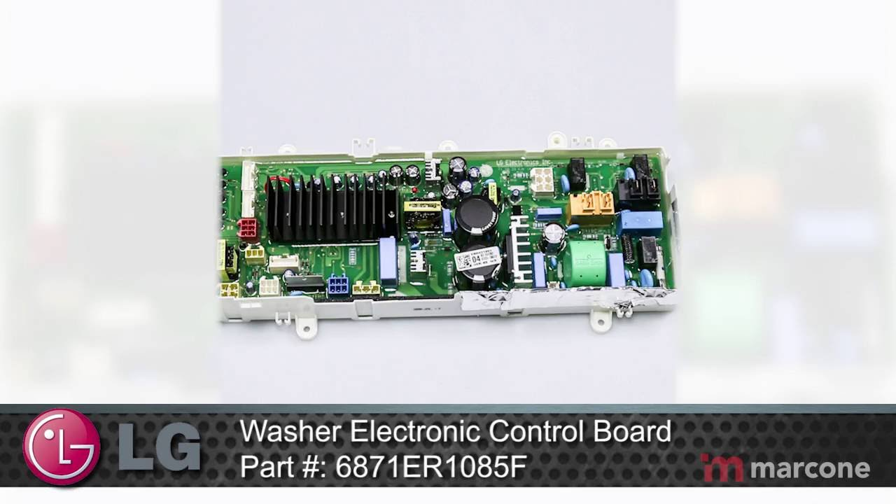 Lg Washer Electronic Control Board Part 6871er1085f