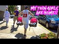 PICKING UP MY TWIN DAUGHTERS WELCOME HOME GIRLS!!!!! + BUYING AIR JORDAN 1s
