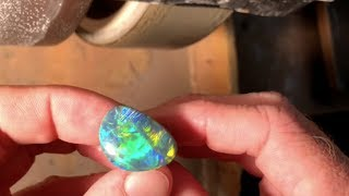 LIVE  Repolishing scratches out of a  $50,000 gem black opal