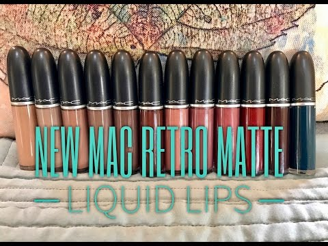 NEW MAC Retro Matte Liquid Lipsticks