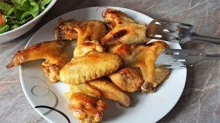 Куриные крылышки в медово-соевом соусе в духовке+ идея обеда.