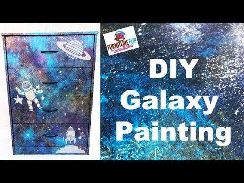 Furniture Flip - Make a DIY Galaxy Dresser