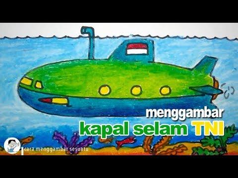 Cara Menggambar Kapal Selam Untuk Anak Youtube