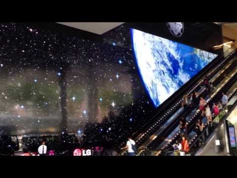 Claimed to be world's largest wall display by LG installed at Singapore Suntec City.