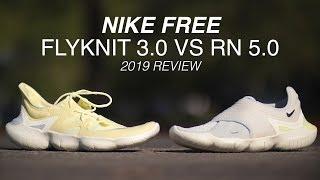 NIKE FREE RN FLYKNIT 3.0 VS NIKE FREE RN 5.0 REVIEW (2019)