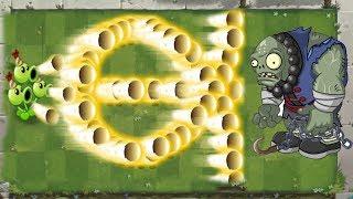 Plants vs Zombies 2 Hack Threepeater Cannons vs Gargantuar