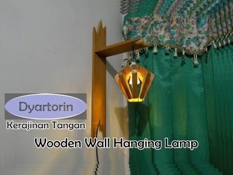Cara Membuat Lampu Dinding Gantung dari Kayu | DIY Easy Wooden Wall Hanging Lamp