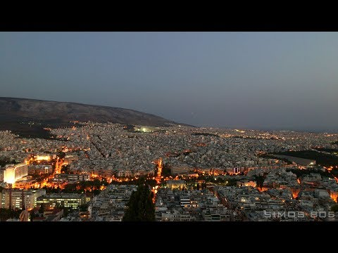 Night City Time Lapse from Likavitos, Athens, Greece [4K]