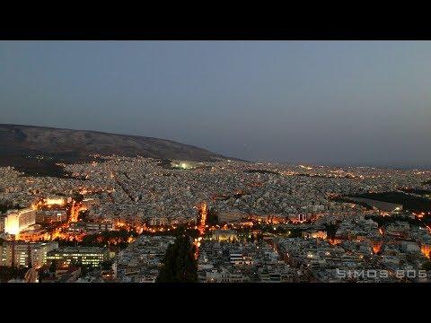 Night City Time Lapse from Likavitos, Athens, Greece [4K]