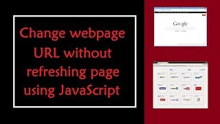 How to change URL of a webpage without refreshing page using JavaScript