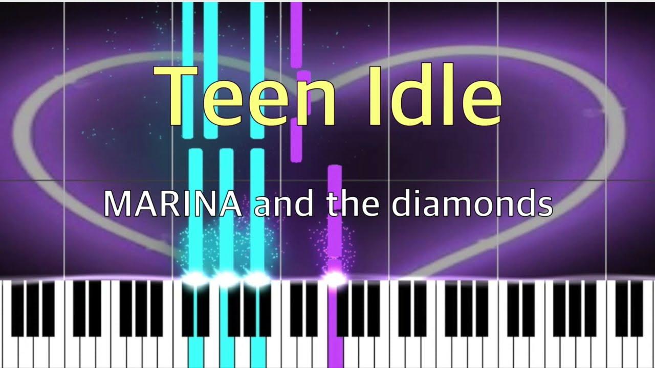 Teen Idle   MARINA and the Diamonds   Piano Tutorial EASY Beginner ...