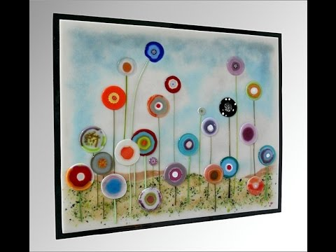 Hanging Glass On Walls You, Fused Glass Artwork Wall
