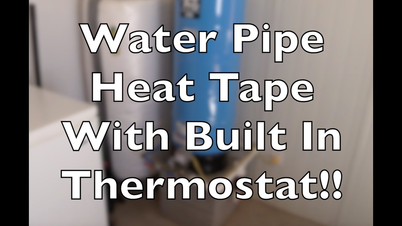 Water Pipe Heat Tape With Built In Thermostat Keep Your Lines From Freeze Stat Wiring Diagram Freezing