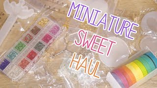 Magical Wand Molds, Sakura Cherry Blossom Bezels, and UV Resin! | Miniature Sweet Haul