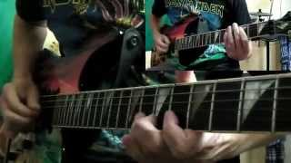 Iron Maiden - Speed Of Light full guitar cover with solos and tabs !