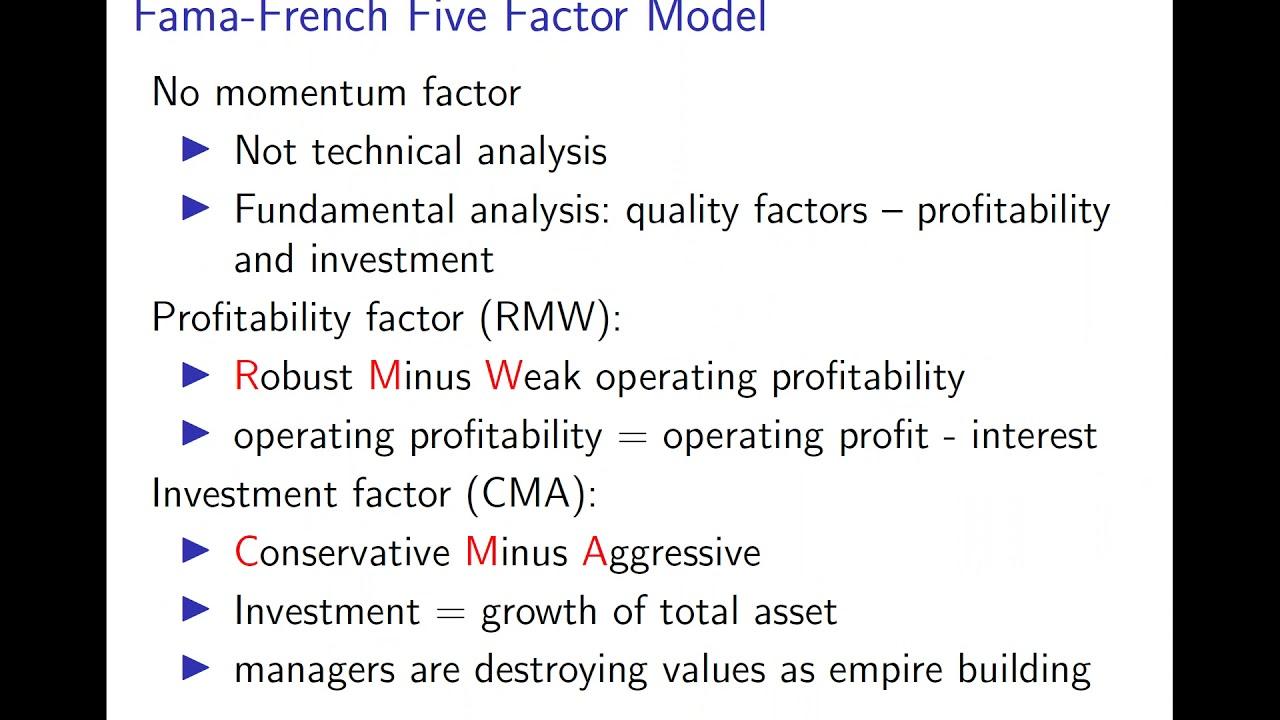 Factor model | Chiu Yu Ko