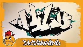 How to draw graffiti names - Milo #26(Etsy: https://www.etsy.com/de/shop/DKDrawing At this season i show you how to draw names in graffiti step by step. Do u want to a tutorial of your name?, 2016-08-24T21:26:45.000Z)