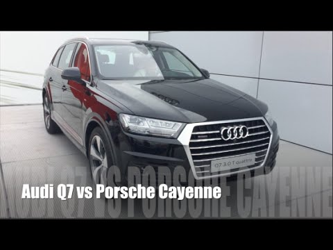 audi q7 2015 vs porsche cayenne 2015 youtube. Black Bedroom Furniture Sets. Home Design Ideas