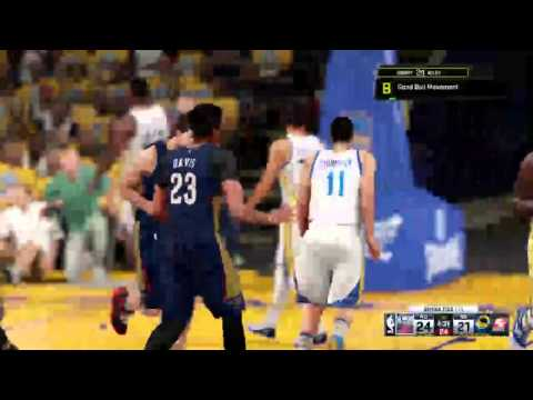 NBA 2K16 Featuring Henry Riley #34 NO vs GSW