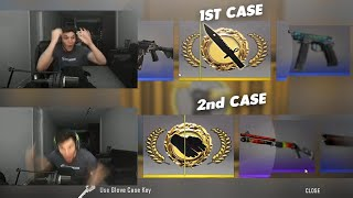 He just unboxed a knife and then gloves... in two cases