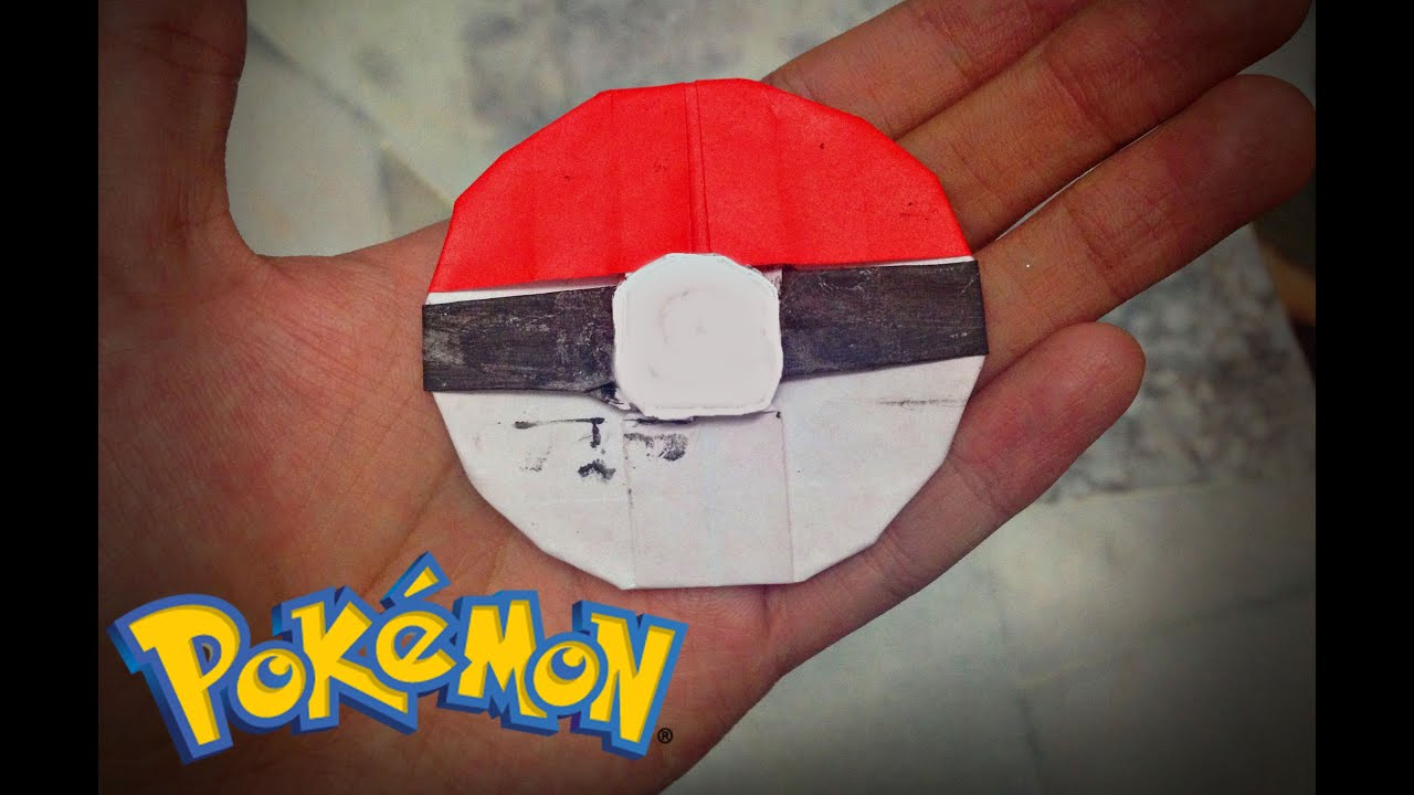 Pokemon Go How To Make Origami Pokeball In 10 Minutes Easy
