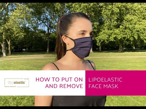 How to put on and remove LIPOELASTIC face mask