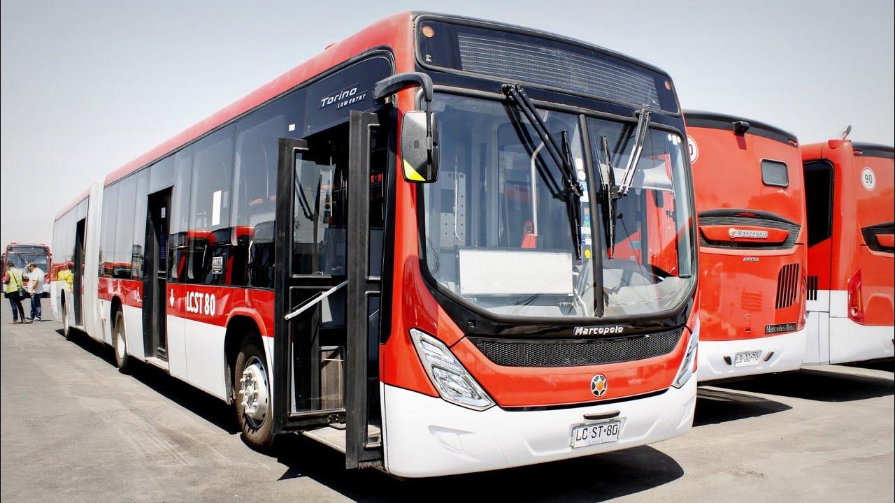 Transantiago | Exterior & Interior bus articulado Marcopolo Torino ...