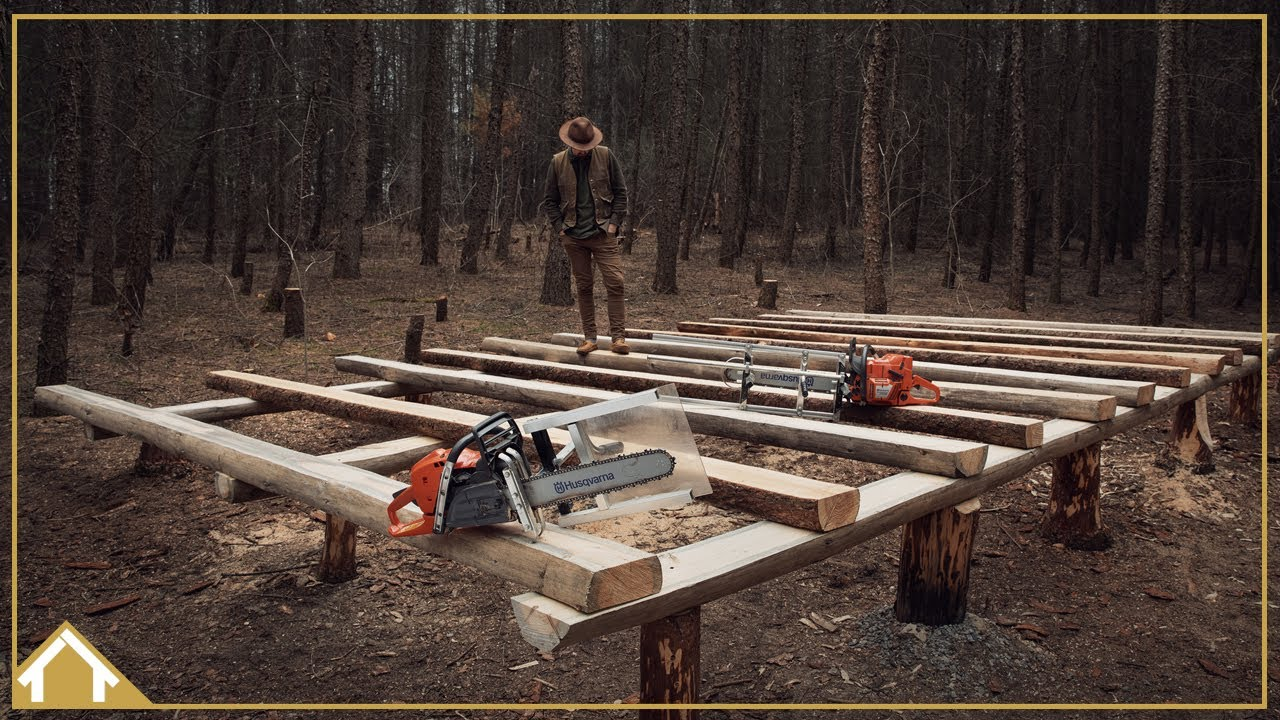 Download Cabin Build EP04:  The Foundation / Milling Beams / Camp Cooking
