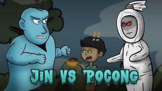 JIN vs HANTU POCONG - Kartun Hantu Lucu Indonesia | Rizky Riplay
