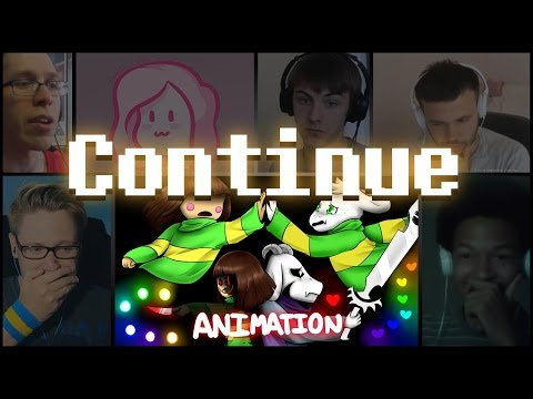 """Glitchtale: """"Continue"""" By Camila Cueves Reaction Mashup"""